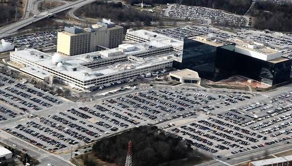 A view of the National Security Agency at Ft. Meade, Maryland.