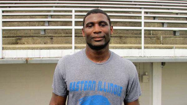 Photo of Antonio Taylor linebacker for Eastern Illinois University.
