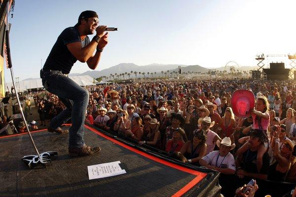 Country singer Luke Bryan, shown performing at the 2012 Stagecoach Country Music Festival in Indio, has now landed two No. 1 albums on the Billboard 200.
