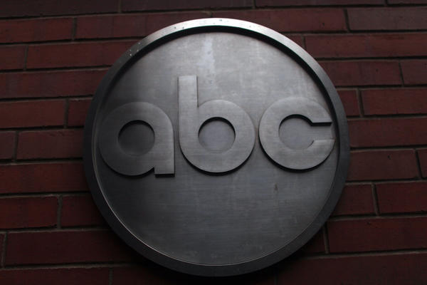The ABC logo is viewed outside of ABC headquarters in New York.