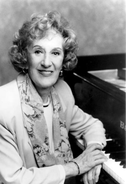 Jazz pianist Marian McPartland. McPartland died of natural causes at the age of 95.