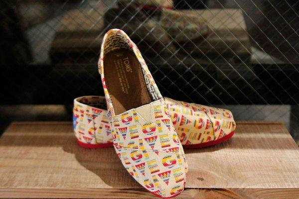 New pairs of Toms shoes will be given to children in 35 states and access to eye care will be provided to children in three states.