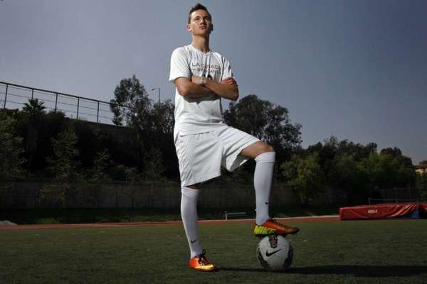 La Cañada High boys' soccer player Armand Bagramyan made history with his 43 goals in his senior season.
