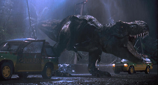 "A scene from ""Jurassic Park."""