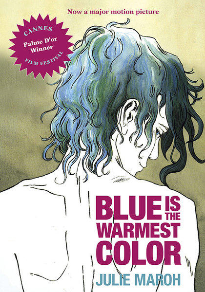 "The cover of the upcoming English version of the graphic novel ""Blue Is the Warmest Color."""