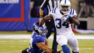 Colts deal RB Carter to Ravens for WR Reed