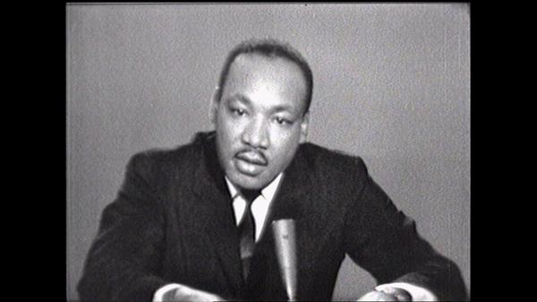 "Martin Luther King Jr. appears on ""Meet the Press"" on Aug. 25, 1963. NBC will re-air the episode on Sunday in conjunction with a new episode looking back on the March on Washington."