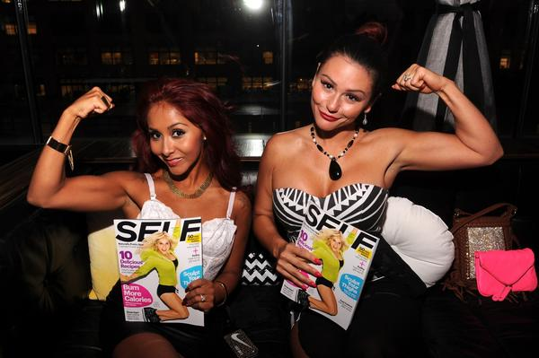 "Nicole ""Snooki"" Polizzi, left, and Jenni ""JWoww"" Farley haven't yet been banned from a Jersey Shore neighborhood where ""Snooki & JWoww"" is shot."