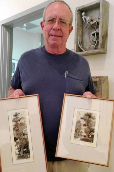 Artist David Hunter will demonstrate his intricate etching process at the Bowersock Gallery in downtown Mount Dora.