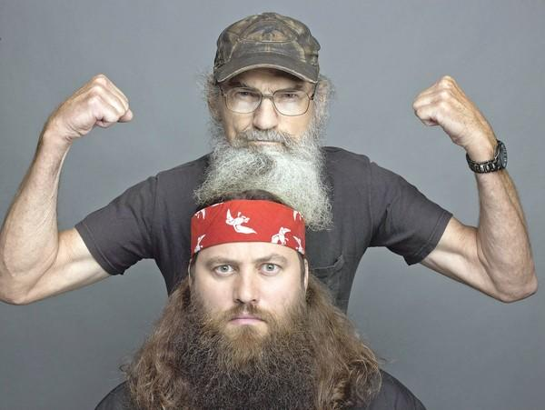 "Si Robertson, top, and Willie Robertson from the A&E series, ""Duck Dynasty."""