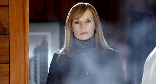"Catherine Willows (Marg Helgenberger) on her last episode of ""CSI: Crime Scene Investigation."" Marg Helgenberger's last episode."