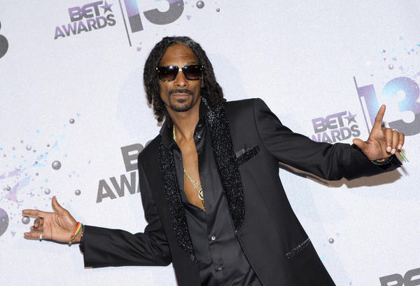 Rapper Snoop Lion (formerly Snoop Dogg) poses in the Backstage Winner's Room at Nokia Theatre L.A. Live.