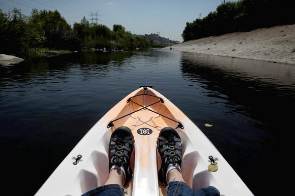 Paddling up a lazy L.A. River is a pleasant notion to restoration advocates, but it should be noted that most of the water in the channel is reclaimed sewage.