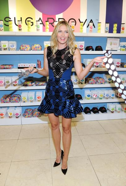 "Maria Sharapova celebrates the one-year anniversary of Sugarpova by launching ""Sugarpova Accessory Collection"" exclusively at Henri Bendel on August 20."