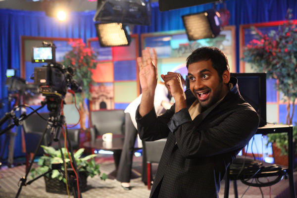 "Aziz Ansari as Tom Haverford on ""Parks and Recreation."""