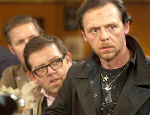 "Simon Pegg, right, and Nick Frost star in ""The World's End."""