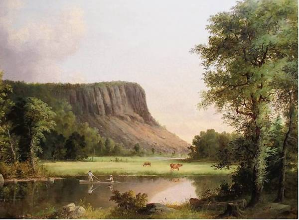 """East Rock, New Haven"" (1857) by George H. Durrie (1820–1863)."