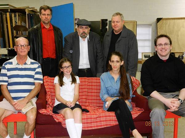 "Photo courtesy of Ken Kelley The cast for the Poquoson Island Players' upcoming production of ""Wait Until Dark"" includes, from left, front row, Bobby Dutton, Lauren Sylvia, Kate Bertrand and Patrick Smith; and back row, Scott Rollins, Peter Natale and Ben Jenkins."