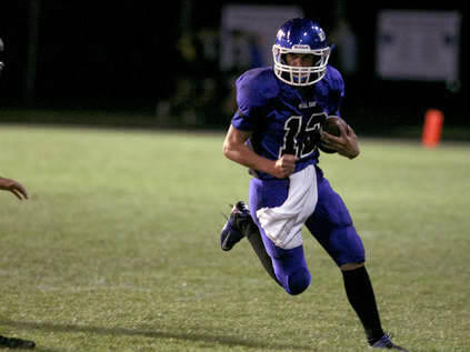 Maine East football player Alex Corey hopes he can lead his team to achieve its goals this season.