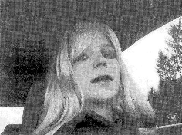 Bradley Manning pictured dressed as a woman in 2010.