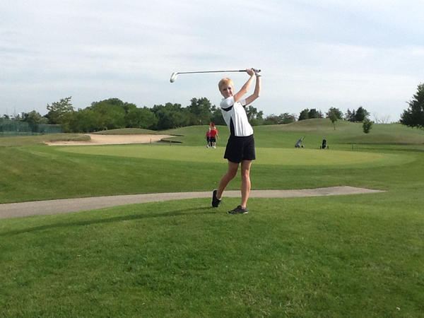 Andrew High School golfer Nora Chlum set personal goals for herself in her senior season.