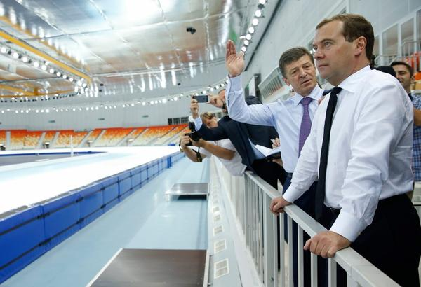 Russian Deputy Prime Minister Dmitry Kozak told the International Olympic Committee that athletes of all sexual orientations would be welcome at the 2014 Games in Sochi. Above, Kozak, left, and Prime Minister Dmitry Medvedev during a visit to Sochi this month.