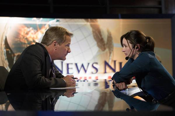 "Jeff Daniels and Emily Mortimer in ""The Newsroom."""