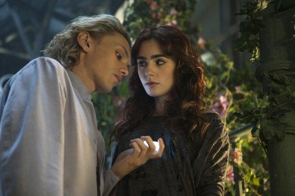 "Jamie Campbell Bower, left, and Lily Collins star in ""Mortal Instruments: City of Bones,"" which is poised to have a lackluster debut this weekend."