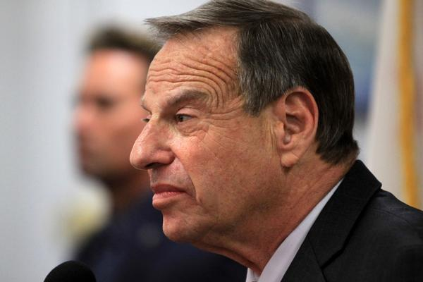 San Diego Mayor Bob Filner speaks at a press conference announcing his intention to seek professional help for sexual harassment issues in July.
