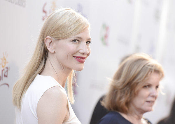 """Actress Cate Blanchett arrives at the Los Angeles premiere of """"Blue Jasmine"""" at the Academy of Motion Pictures Arts and Sciences."""