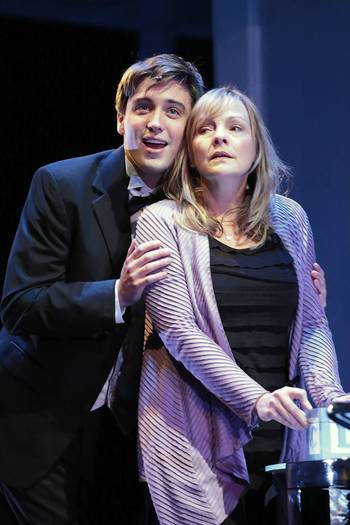 "Josh Tolle and Susie McMonagle in ""Next to Normal"" at the Drury Lane Theatre in Oakbrook Terrace."