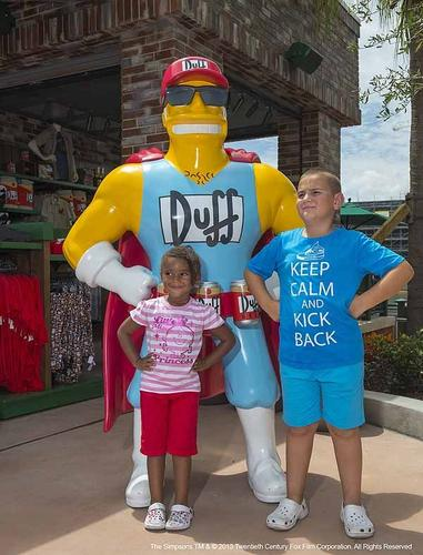 """""""The Simpsons"""" Springfield is open at Universal Orlando."""