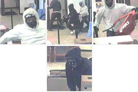 FBI officials are asking for help to capture the three people who committed a Lansing bank robbery.