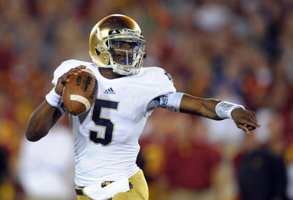 Notre Dame quarterback Everett Golson.
