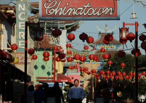 George Yu, director of the Chinatown Business Improvement District, has played a big role in bringing new businesses to the Chinatown district in Los Angeles.