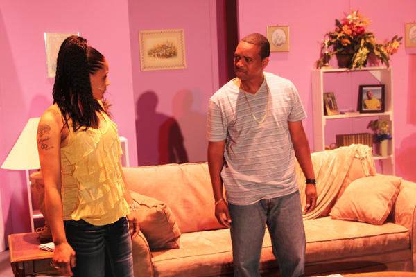 Bigz (J.R. Pasley) tells Vanessa (LaKesia Muhammad) that he's giving up other women just because they are now engaged.
