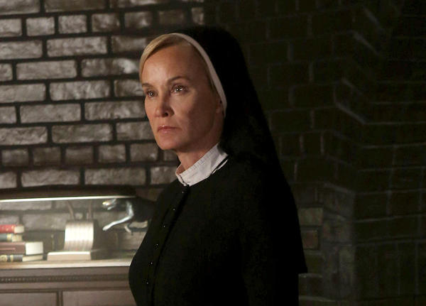 "Jessica Lange portrays Sister Jude in a scene from ""American Horror Story: Asylum."""