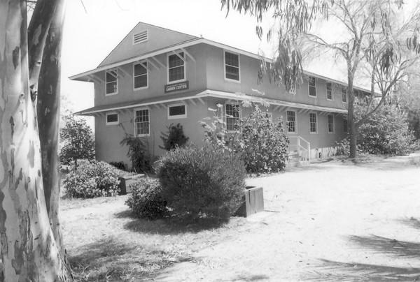 The Memorial Gardens Building at the Orange County Fairgrounds, pictured here in the 1960s, was formerly known as the Orange County Memorial Garden Center. Around it was a memorial garden dedicated to veterans, those who died in war and those who served at the Santa Ana Army Air Base.