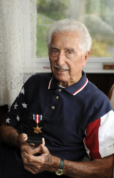 William Tiernan, a World War II veteran of the British Merchant Navy, was awarded The Arctic Star medal by the British government for his service on a convoy ship to Russia during the war.