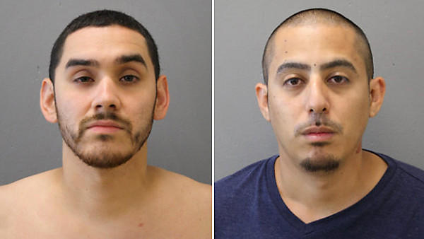 Jesus Quintana Jr., 27, and Christian Ortiz, 29, are two of five people who were charged in connection with two related shootings that injured two men Tuesday, Aug. 20, in the South Chicago neighborhood of Chicago.