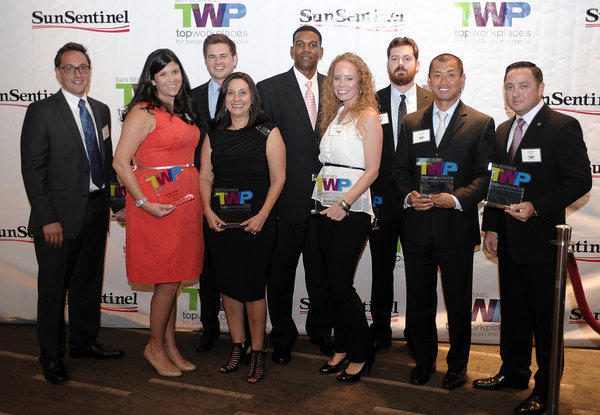 From left, Wes Bonner, Nicky Tesser, Benjamin Sturgell, Mary Sol Gonzalez, Marc Trajan, Sarah Martin, Nate Ernest-Jones, Drew Saito and Ken Stiles. (not present was Duree Ross) The Sun Sentinel honored these winners during an awards ceremony, Thursday, August 22, at the W Fort Lauderdale Hotel.