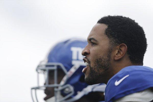 New York Giants defensive back Terrell Thomas during training camp earlier this month.