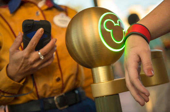 MyMagic  is a billion-dollar technology project in testing at Walt Disney World. Its central elements include 'MagicBands,' which are rubber bracelets that function as all-in-one theme park tickets, hotel room keys and credit cards, and 'FastPass ,' a new ride reservation system that will allow visitors to book times for experiences such as rides, shows and parades weeks befor