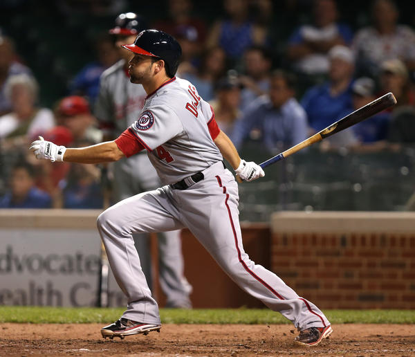 Former Cub David DeJesus was with the Washington Nationals for five days before being traded again Friday.