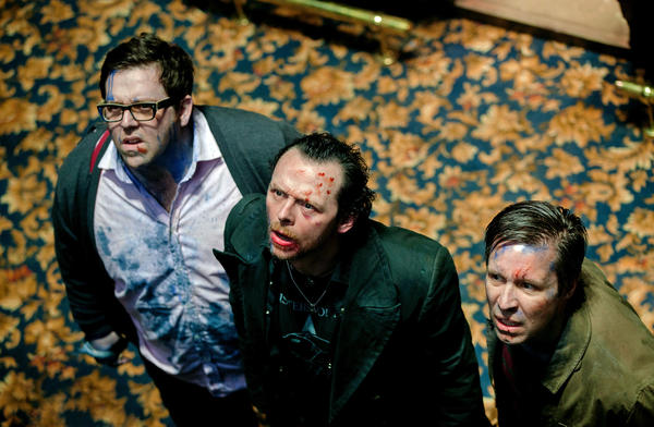 "Nick Frost as Andy, Simon Pegg as Gary and Paddy Considine as Steven in Edgar Wright's new comedy ""The World's End,"" a Focus Features release."