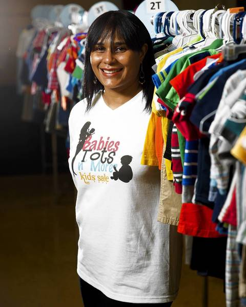 Kristin Myers at Babies Tots N More Consignment in Chicago on Friday, May 31, 2013.