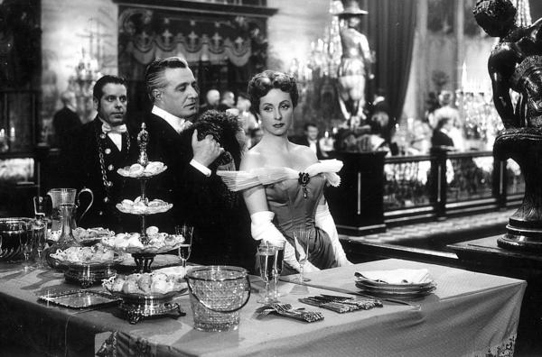 "Vittorio De Sica as Baron Fabrizio Donati and Danielle Darrieux as Comtesse Louise de in ""Earrings of Madame de."""