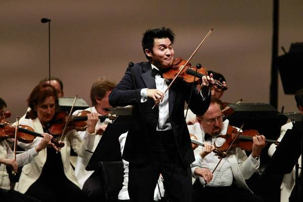 Violinist Ray Chen performs with the Los Angeles Philharmonic at the Hollywood Bowl.