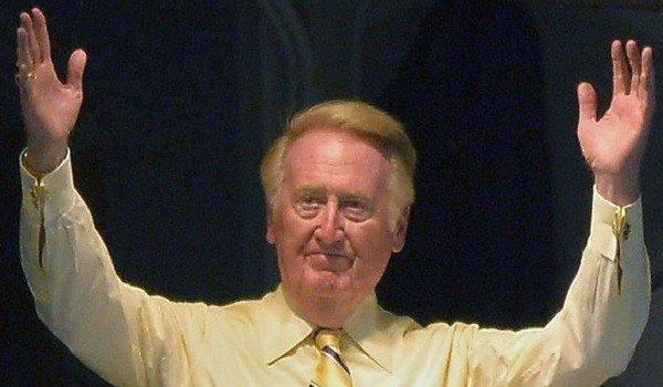 Vin Scully announced Friday that he would be returning to the Dodgers broadcast booth for his 65th season.