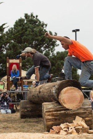 Competitors in the logging show at Paul Bunyan Days in Fort Bragg, Calif.